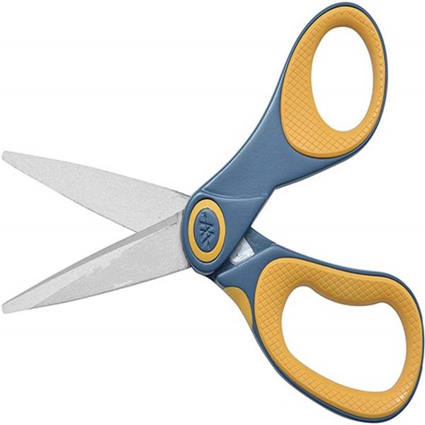 """Racdde 8"""" Titanium Non-Stick Straight Scissors, 3 Pack"""