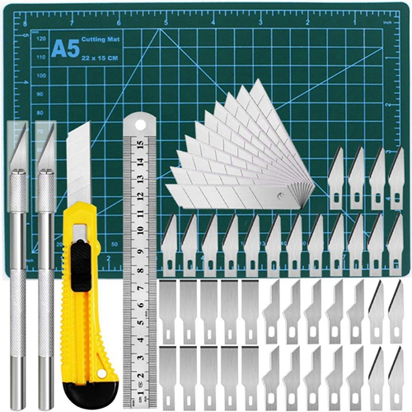 Racdde Precision Exacto Knife Upgrade Cutting Mat Carving Craft Knife Hobby Knife Exacto Knife Kit