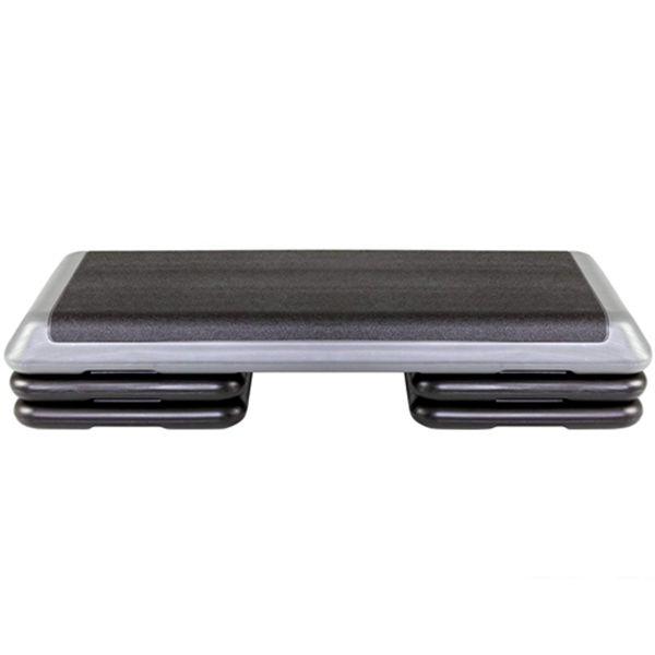 Racdde Original Aerobic Platform for Total Body Fitness – Health Club Size with Grey Platform and 4 Original Black Risers