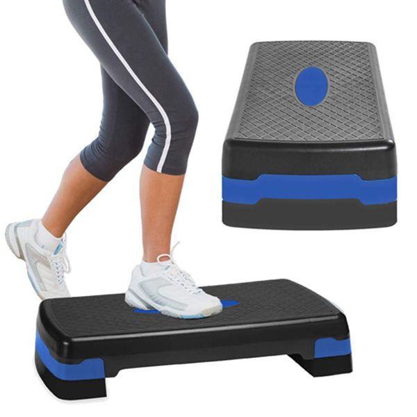 Racdde Sport Aerobic Exercise Step Deck, Adjustable Workout Fitness Stepper Exercise Platform with Risers