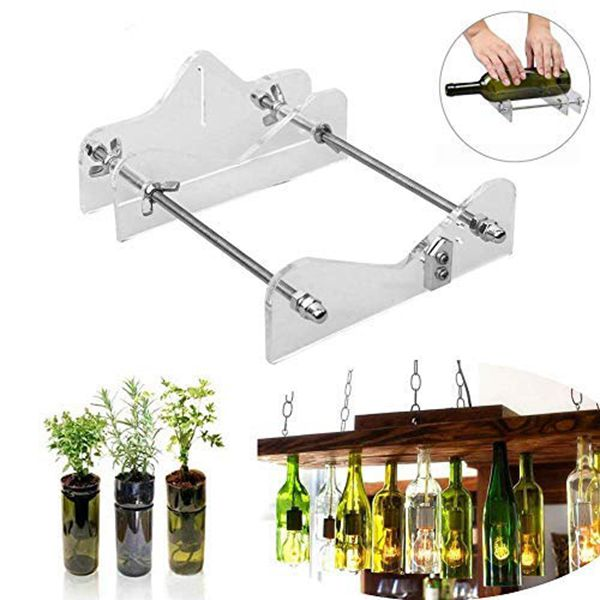 Racdde DIY Glass Bottle Cutter Machine Tool, Bundle Wine Beer Champagne Bottles and Jars Cutting Tool Kit for Home Bar Decoration Make Crafts,Easy Operation,Suitable for Most Glass Bottle