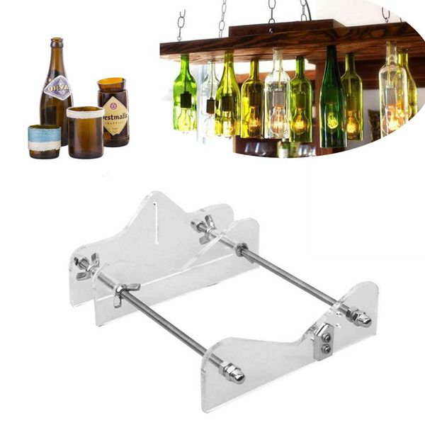 Racdde DIY Glass Bottle Cutter Machine Tools, Bundle Wine Beer Champagne Bottles and Jars Cutting Tool Kit for Home Bar Decoration Make Crafts,Easy Operation,Suitable for Most Glass Bottle
