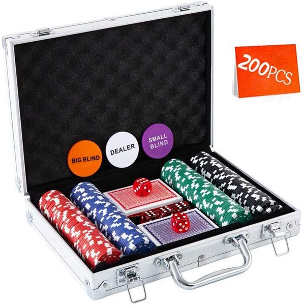 Racdde Casino Poker Chip Set - 200PCS/300PCS Poker Chips with Aluminum Case, 11.5 Gram Chips for Texas Holdem Blackjack Gambling