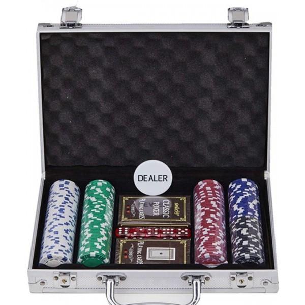 Racdde 200PCS Casino Poker Chips Set,11.5 Gram for Texas Holdem Blackjack Gambling with Aluminum Case