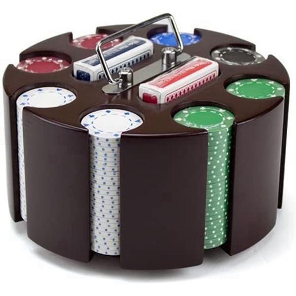 Racdde Poker Chip Set in Wooden Carousel Case, 11.5gm