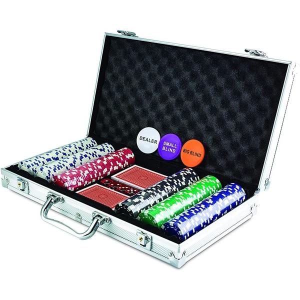 Racdde 300 Chip Dice Style Poker Set In Aluminum Case (11.5 Gram Poker Chips)