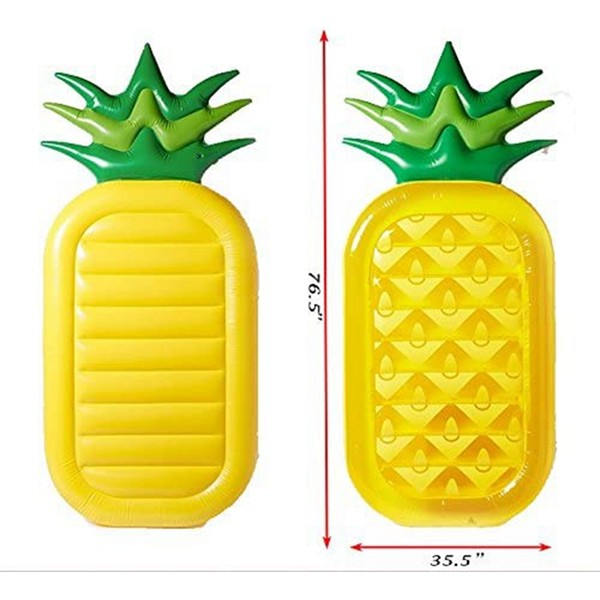 """Racdde Giant 76"""" Inflatable Pineapple Pool Party Float Raft Summer Outdoor Swimming Pool Inflatable Floatie Lounge Pool Loungers for Adults & Kids"""