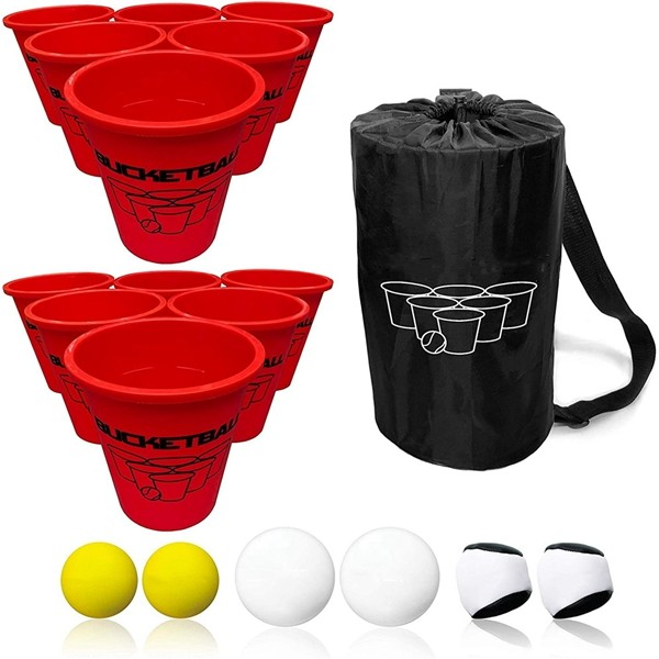 Racdde- Giant Yard Pong Edition - Ultimate Beach, Pool, Yard, Camping, Tailgate, BBQ, Lawn, Wedding, Events, Water, Indoor, Outdoor Game Toy for Adults, Boys, Girls, Teens, Family