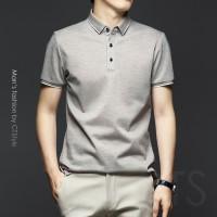 racdde Summer men's lapel short-sleeved t-shirt mercerized cotton polo shirt cotton trend Paul high-end 2021 new business